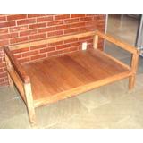 Sofa Tipo Namoradeira Madeira De Demolição 1,36 M