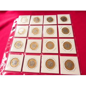 Coleccion 16 Monedas Olimpicas Olimpiadas Rio Real Brasil