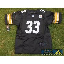 Jersey Nfl Pittsburgh Steelers Negra Acereros Hooge 33 ¡
