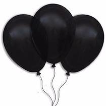 Balões São Roque N° 7 Preto Ebano Com 200 Bexigas