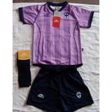 Monterrey Morado Kit Completo Atletica Temp 06-07 De Colecc