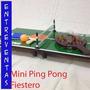 Mini Ping Pong De Madera Para Sobremesa, Juego Adulto Y Niño