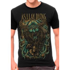 Camiseta As I Lay Dying Blusas Moletom Regata Bandas Rock