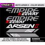Calcomania Arsen 2 Empire Keeway Bs 15.000