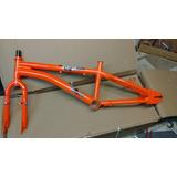 Cuadro Aluminio Freestyle-bmx Rodado 20 , Horquilla Acero