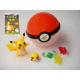 Pokemon Pokebola Figuras Sobre Pikachu Fiesta Dulcero Mesa