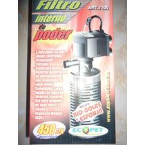Filtro Interno 450l/h Filtra Oxigena Para 90-150litros Dhl