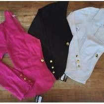 Blazer Colorido Bengaline Terninho Fashion Slim 10 Peças