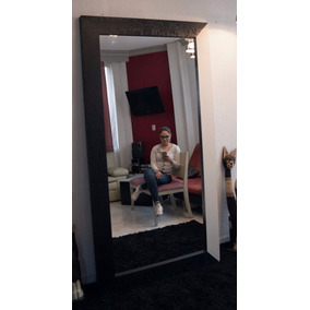 Espejo Cuerpo Completo Black-piel Recamara-sala Mape+tzin