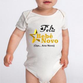 Body Bebe Frases Engraçadas Ano Novo Réveillon Branco