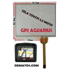 Tela Touch Gps Aguarius 3,5 Moto Original