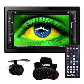 Dvd Multimidia 2 Din Napoli 7335 Camera Re Gps Tv Bluetooth