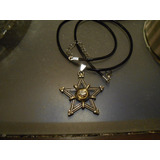 Dije Tetragramaton Pentagrama Acero Bronce C/collar Protecc
