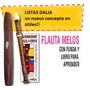 Flauta Dulce Melos Con Funda Y Cuaderno Para Aprender