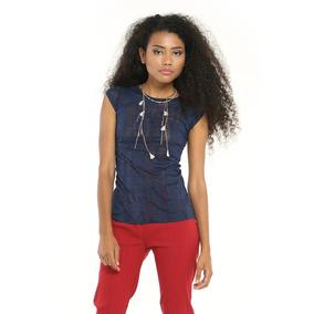 Franela Basica T Azul Desgastada Saints Clothes