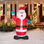 7 Pies De Altura Pequeño Papá Noel Inflable De Navidad Ilum