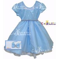 Vestido Festa Infantil Alice No País Das Maravilhas E Tiara