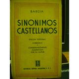 Sinonimos Castellanos (etimologias) Roque Barcia