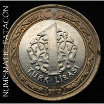Moneda Turquia - 1 Lira Turca 2015 - Excelente