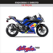 Kit Adesivos Motos Ninja 300 Red Bull