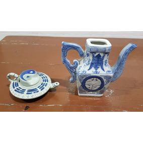 Conjunto De Dois Bules Porcelana Chinesa - Período Chenghua