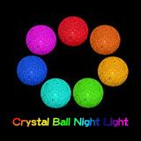 Centro Mesa Vela Led Esfera Bola Luz Noche Cotillon 10cm