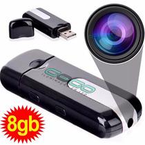 Pendrive Espião 8gb Camera Sensor Grava Voz S Juros I 010