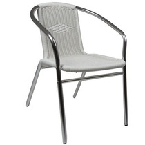 Cadeira Poltrona Para Jardim Varanda Em Aluminio Rattan