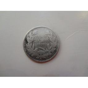 Moneda Chilena 20 Centavos De 1907