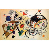 Kandinsky Tranverse Line En Canvas Bastidor De 80x50 Cm