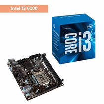 Kit Processador Intel I3 6100 Placa Mae H110 Ddr4 2133 Mhz