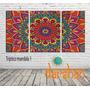 Cuadros Tripticos Mandalas Meditacion Ganesha Unicos!!! 2x1m