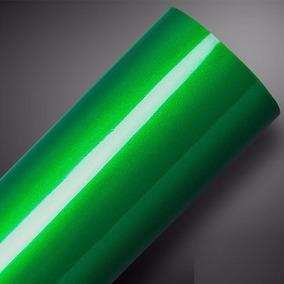 Vinil Adesivo Ultra Verde Metallic Green Alltak / 3m X 1m