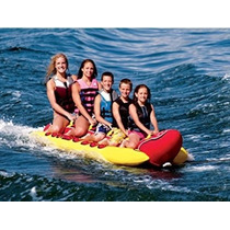 Lancha Banana Acuatica Inflable 5 Personas Weenie Jumbo Mar