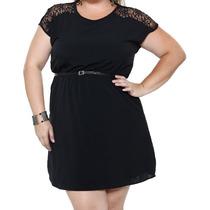Vestido Feminino Com Recortes Em Renda Plus Size T. 48!novo