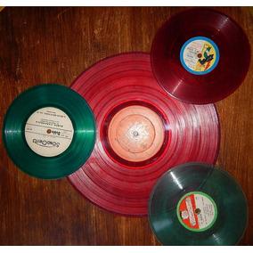 Discos Vinilos Transaparentes Colores Decoracion - Oferta