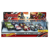 50% Off Set Carros Hot Wheels Marvel Avengers Niños Mattel