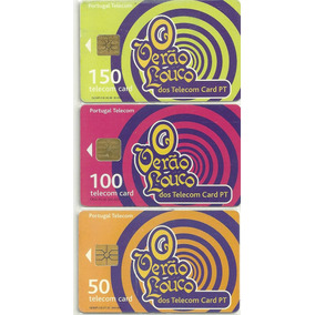 Serie Telecon Card 3 Cartoes O Verao Louco