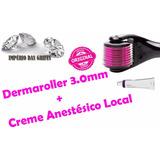Dermaroller 1.0 Mm - 540 Agulhas De Titânio + Anestésico