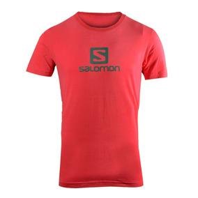 Remera Salomon Logo Ss Tee Hombre Rojo