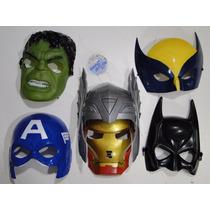 6 Mascaras Thor Hulk Ferro America Volverine Batman Ultron