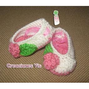 Zapatitos Tipo Ballet P/bebé Tejidos A Mano Crochet