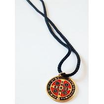 Cordão Com Medalha De Sao Bento - Colar De Sao Bento