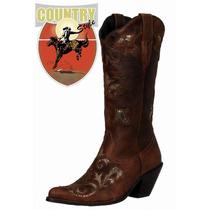 Bota Feminina Texana Bico Fino Detalhe No Pé - West Country