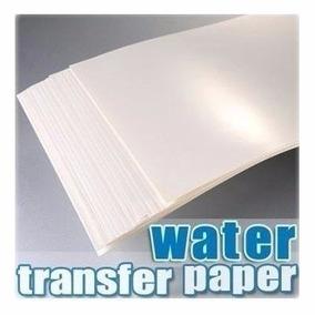 5 Papel Decalque Water Slide Incolor Jato Tinta Adesivo Unha