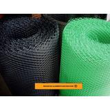 Malla Plastica Romboidal - Rollo De 25mts X 1,20mts
