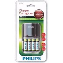 Carregador De Pilhas Philips Com 4 Pilhas Aa 2450mah
