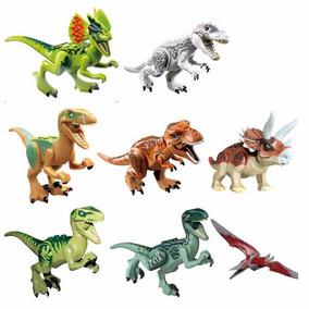 Kit Jurassic World - 8 Peças Dinossauros - Pronta Entrega