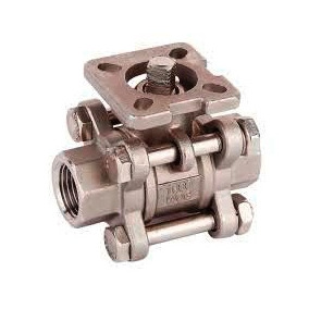 Valvula De Bola Acero Inoxidable Roscada Actuador Neumático