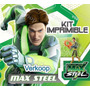 Kit Imprimible Max Steel Invitaciones Tarjetas Marcos